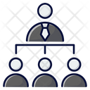 One Person Connected Person Hierarchy Project Management Icon