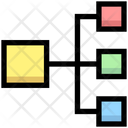 Hierarchy Connection Network Icon