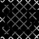 Inverted Organization Chart Icon