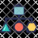 Hierarchy Connection Graph Icon