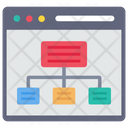 Hierarchy Seo And Web Networking Icon