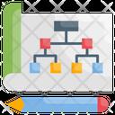 Hierarchy Data Flow Algorithm Icon