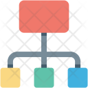 Hierarchy Networking Programming Icon