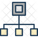 Hierarchy Network Workflow Icon