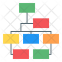 Organization Chart Hierarchical Chart Hierarchical Diagram Icon