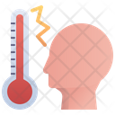 Fever High Thermometer Icon