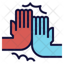 High Five Hands Icon