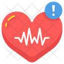 High Heart Rate Heartbeat Heartcare Icon