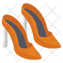 High Heel Ladies Shoes Footwear Icon