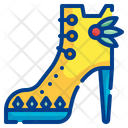 High Heels Feathers Shoe Icon