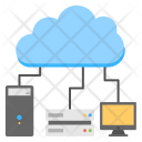 High Performance Cloud Icon