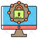 High Protected Computer Icon