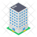 High Rise Building Modern Architecture Skyline Icon