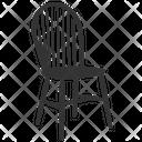 High Slat Back Grandad Chair Slat Back Chair Chair Icon