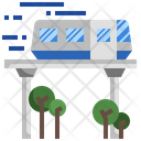 High Speed Transportation Train Tram Icon