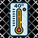 High Temperature Thermometer Temperature Icon