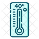 High Temperature Thermometer Temperature Icon