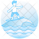 High Tide Surfing Sea Sports Icon