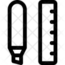 Highlighter Ruler Design Icon