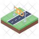 Highway Roadway Route Icon