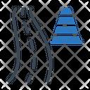 Road Cone Block Icon