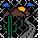 Desert Cactus Landscape Icon