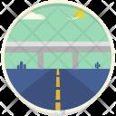 Highway Flyover Roadway Icon