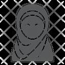 Hijab Muslim Woman Icon