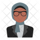 Hijab Businesswoman Icon