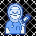 Hijab Doctor Vaccination Icon