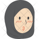 Hijab Girl Pouting Icon