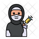 Hijab Vaccination Icon