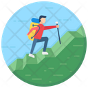 Traveller Adventurer Hiker Icon