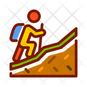 Hiking Hiker Mountain Climbing Icon