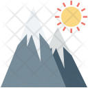 Hiking Hills Landscape Icon
