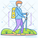 Hiking Hitchhiking Backpacking Icon