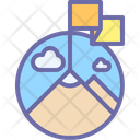 Mountain Forest Weather Icon
