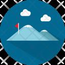 Hiking Mountain Adventure Icon