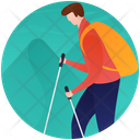 Hiking Camping Person Camping Icon