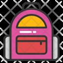 Hiking Bag School Icon