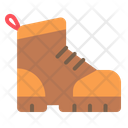 Boots Hiking Safety Shoes Icon