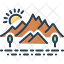 Hill Countryside Environment Icon