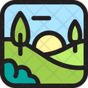 Env Environment Landscape Icon