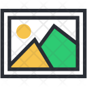 Hill Landscape Mountains Icon