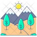 Landscape Hill Station Hilly Place Icon