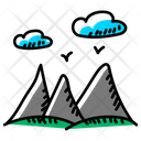 Mountains Hill Station Landscape Icon