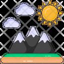 Landforms Landscape Hill Station Icon