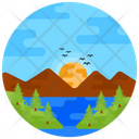 Hilly Area Hill Station Landscape Icon