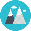 Hills Mountains Nature Icon