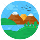 Lake Scenery Hills Icon